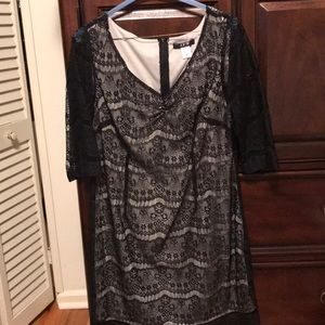 Black lace formal dress, sz 16